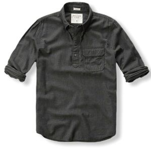 Abercrombie & Fitch Men's Textured Flannel Shirt